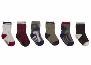 Socks Fall Basics 6pk 0-6m
