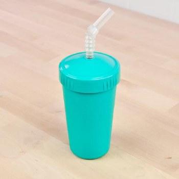 Straw Cup 10oz Aqua