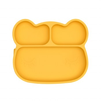 Bear Stickie Plate Yellow