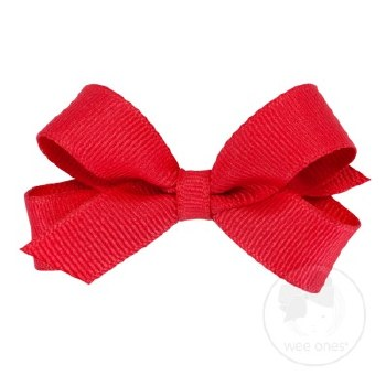 Tiny Grosgrain Bow Red