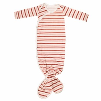 Newborn Knotted Gown Cinnamon