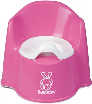 Baby Bjorn Potty Chair Pink - CURBSIDE ONLY