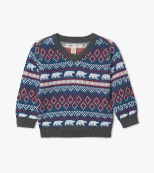 Fair Isle Baby Sweater 3-6m
