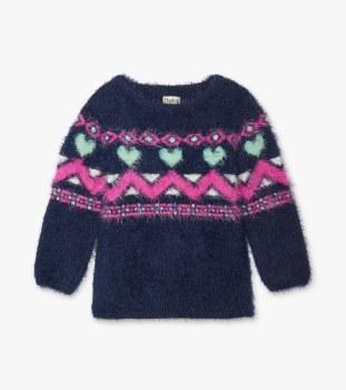 Fair Isle Fuzzy Sweater 4