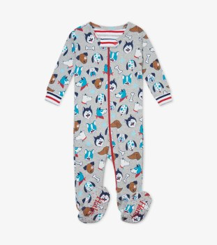 Footed Coverall Pups 3-6m