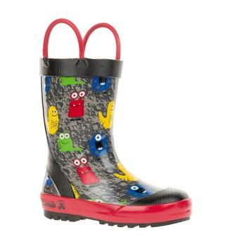 Rain Boots Monsters Black 6T