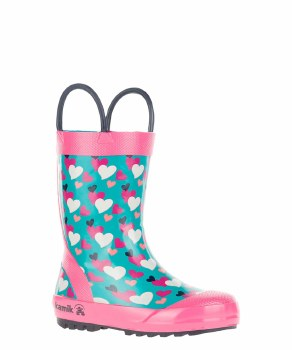 Rain Boots Lovely Teal 5T