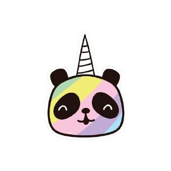 Pandacorn Vinyl Sticker