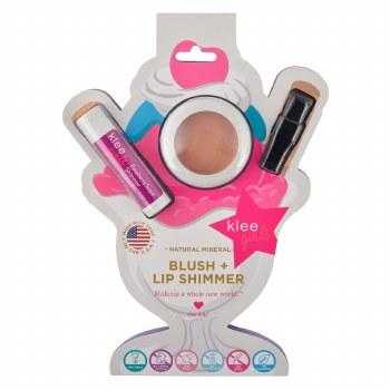 Peachy Pink Natural Mineral Blush and Lip Shimmer Duo