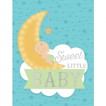 Baby on Moon Enclosure