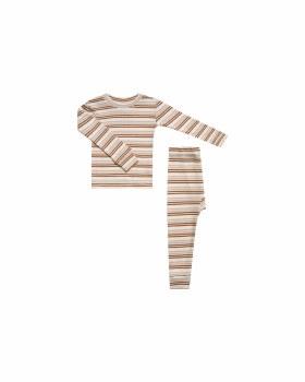 Striped PJ Set Oat 8-9y