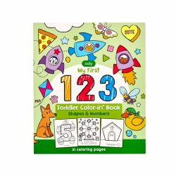 123: Shapes and Numbers Toddler Coloring Book