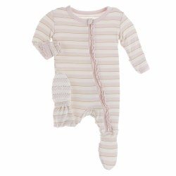 Muffin Footie Sweet Stripe 3-6m