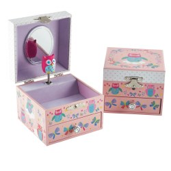 Jewelry Box Owl and Butterfly