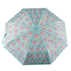 Color Changing Umbrella Flamingo