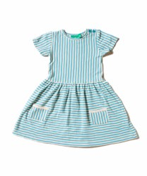 Corn Blue Stripe Dress 12-18m