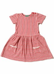 Red Stripes Forever Dress 7-8y