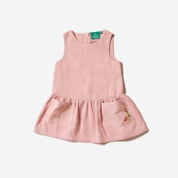 Dusky Pink Pocket Dress 2-3y