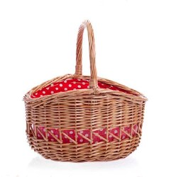 Big Basket Red & White Dots -CURBSIDE ONLY