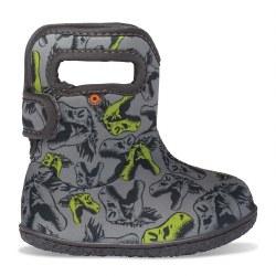 Baby Bogs Dino Grey 4T