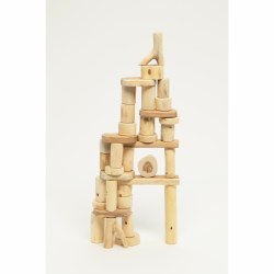 Bark-less Tree Blocks 36pc