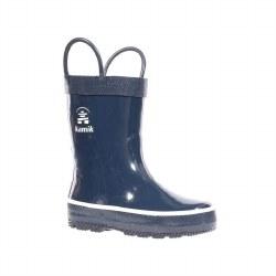 Rain Boots Splashed Navy 8