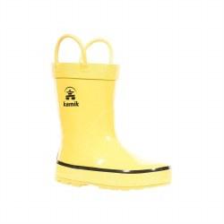 Rain Boots Splashed Yellow 7