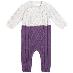 Knit Playsuit Purple 3m