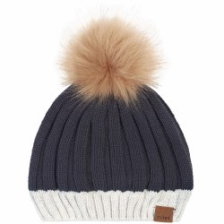 Pom Pom Hat Alpine Grey 5/7Y