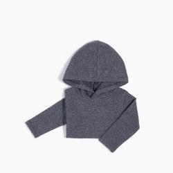 Knit Hoody Blue Melange 7