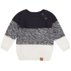 Navy Knit Block Sweater 2/3T