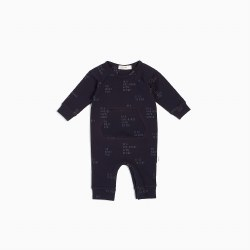 Knit Playsuit Sleigh Blue 12m