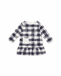 Knit Dress Blue Check 7