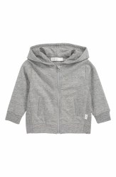 Baby Hoodie Heather Grey 12m