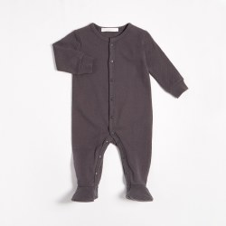 Knit Sleeper Dark Grey 6M