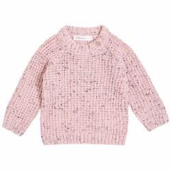 Waffle Knit Sweater Pink 3-6m
