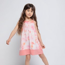 Camp Dress Melon Tie Dye 2T