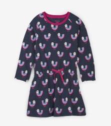 Drop Waist Dress Birds 5T