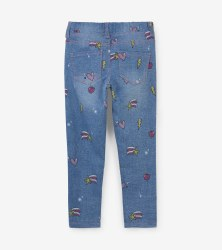 Stretch Denim Pant Doodles 2T