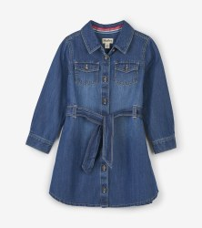 Denim Belted Dress 8