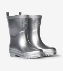 Rain Boots Silver Shimmer 5T