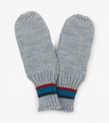 Grey Mittens Large