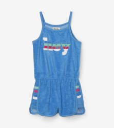 Sky Blue Retro Romper 7