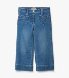Denim Wide Leg Pants 4T