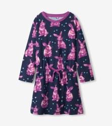 Bunnies Drop Waist Dress 2T