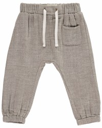 Beige Cotton Pants 6-12m