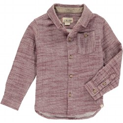 Wine Plaid Shirt 3-4y