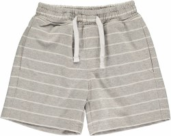 Grey/White Stripe Shorts 2-3y