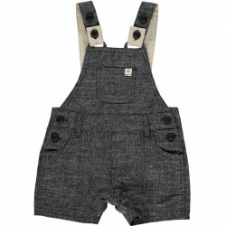 Black Woven Dungarees 18-24m