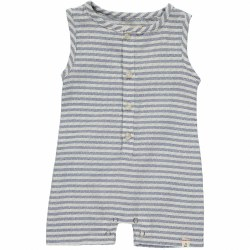 Blue Stripe Woven Playsuit 0-3